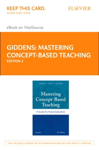 cover image - Mastering Concept-Based Teaching Elsevier eBook on VitalSource (Retail Access Card),2nd Edition