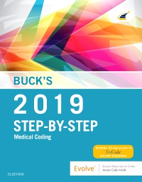 cover image - Buck's Step-by-Step Medical Coding, 2019 Edition