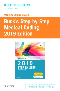 cover image - Buck's Medical Coding Online for Step-by-Step Medical Coding, 2019 Edition (Access Card)