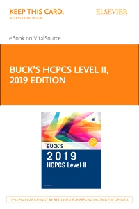 cover image - Buck's 2019 HCPCS Level II Elsevier eBook on VitalSource (Retail Access Card)