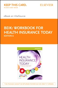 cover image - Workbook for Health Insurance Today - Elsevier eBook on VitalSource (Retail Access Card),6th Edition