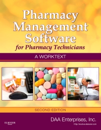 cover image - Pharmacy Management Software for Pharmacy Technicians: A Worktext - Elsevier eBook on VitalSource,2nd Edition
