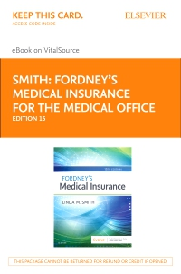 cover image - Fordney's Medical Insurance - Elsevier eBook on VitalSource (Retail Access Card),15th Edition