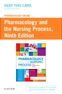 cover image - Pharmacology Online for Pharmacology and the Nursing Process -  (Retail Access Card),9th Edition