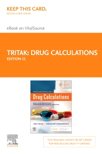cover image - Drug Calculations Elsevier eBook on VitalSource (Retail Access Card),11th Edition