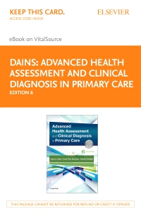 cover image - Advanced Healh Assessment and Clinical Diagnosis in Primary Care Elsevier eBook on VitalSource (Retail Access Card),6th Edition