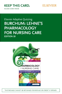 cover image - Elsevier Adaptive Quizzing for Lehne's Pharmacology for Nursing Care (Access Card),10th Edition