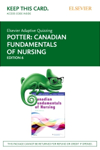 cover image - Elsevier Adaptive Quizzing for Canadian Fundamentals of Nursing (Access Card),6th Edition