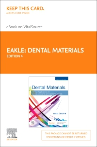 cover image - Dental Materials Elsevier eBook on VitalSource (Retail Access Card),4th Edition