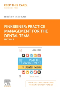 cover image - Practice Management for the Dental Team Elsevier eBook on VitalSource (Retail Access Card),9th Edition