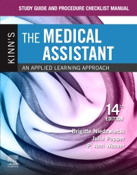 cover image - Study Guide and Procedure Checklist Manual for Kinn's The Medical Assistant,14th Edition