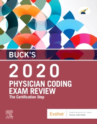 cover image - Buck's Evolve Exam Review for Physician Coding Exam Review, 2020 edition
