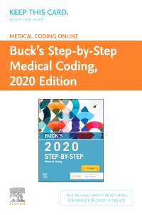 cover image - Buck's Medical Coding Online for Step-by-Step Medical Coding, 2020 Edition (Access Card)