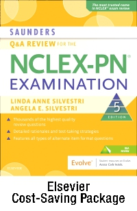 cover image - Saunders Q & A Review for the NCLEX-PN® Examination - Elsevier eBook on VitalSource + Evolve Access (Retail Access Cards),5th Edition