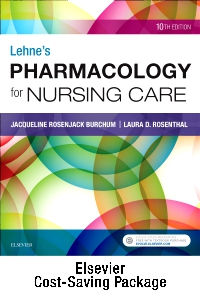cover image - Lehne's Pharmacology for Nursing Care - Text and Pharmacology Online package,10th Edition