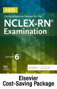 cover image - HESI Comprehensive Review for the NCLEX-RN Examination - Elsevier eBook on VitalSource + Evolve (Retail Access Cards),6th Edition