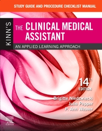 cover image - Study Guide and Procedure Checklist Manual for Kinn's The Clinical Medical Assistant - Elsevier eBook on VitalSource,14th Edition