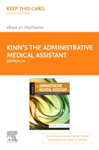 cover image - Kinn's The Administrative Medical Assistant - Elsevier eBook on Vital Source (Retail Access Card),14th Edition