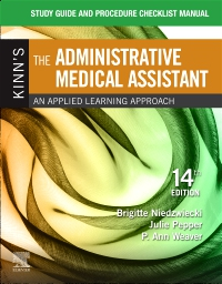 cover image - Study Guide for Kinn's The Administrative Medical Assistant - Elsevier eBook on VitalSource,14th Edition