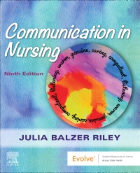cover image - Communication in Nursing,9th Edition
