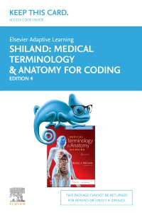cover image - Elsevier Adaptive Learning for Medical Terminology & Anatomy for Coding Access Card,4th Edition