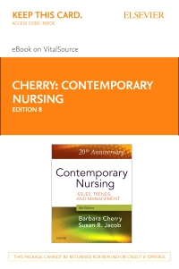cover image - Contemporary Nursing Elsevier eBook on VitalSource (Retail Access Card),8th Edition