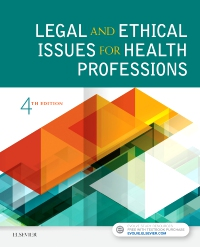 cover image - Evolve Resources for Legal and Ethical Issues for Health Professions,4th Edition