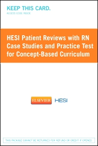 cover image - HESI Patient Reviews with RN Case Studies and Practice Test for Concept-Based Curriculum - Classic Version