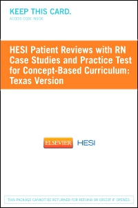 cover image - HESI Patient Reviews with RN Case Studies and Practice Test for Concept-Based Curriculum: Texas Version - Classic Version
