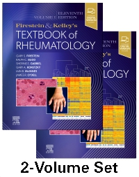 cover image - Firestein & Kelley's Textbook of Rheumatology, 2-Volume Set,11th Edition