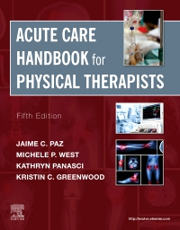 cover image - Acute Care Handbook for Physical Therapists Elsevier eBook on VitalSource,5th Edition
