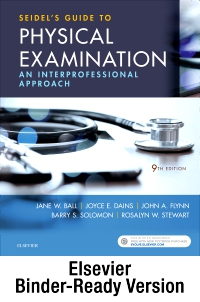 cover image - Seidel's Guide to Physical Examination - Binder Ready,9th Edition