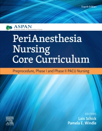 cover image - PeriAnesthesia Nursing Core Curriculum Elsevier eBook on VitalSource,4th Edition