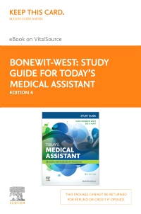 cover image - Study Guide for Today's Medical Assistant - Elsevier eBook on VitalSource (Retail Access Card),4th Edition