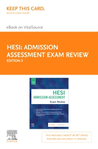cover image - Admission Assessment Exam Review Elsevier eBook on VitalSource (Retail Access Card),5th Edition