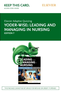 cover image - Elsevier Adaptive Quizzing for Leading and Managing in Nursing (Access Card),7th Edition
