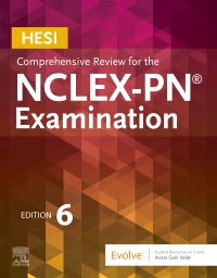 cover image - HESI Comprehensive Review for the NCLEX-PN® Examination - Elsevier eBook on VitalSource,6th Edition