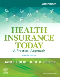 cover image - Workbook for Health Insurance Today,7th Edition