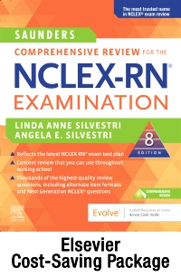 cover image - Saunders Comprehensive Review for the NCLEX-RN® Examination Elsevier eBook + Evolve (Retail Access Cards),8th Edition