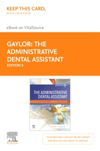 cover image - The Administrative Dental Assistant Elsevier eBook on VitalSource (Retail Access Card),5th Edition
