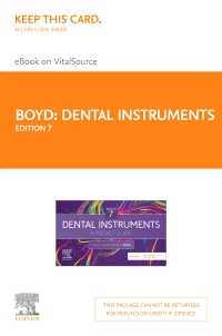 cover image - Dental Instruments - Elsevier eBook on VitalSource (Retail Access Card),7th Edition