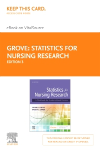 cover image - Statistics for Nursing Research - Elsevier eBook on VitalSource (Retail Access Card),3rd Edition