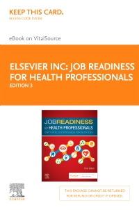 cover image - Job Readiness for Health Professionals - Elsevier eBook on VitalSource (Retail Access Card),3rd Edition
