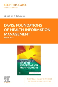 cover image - Foundations of Health Information Management - Elsevier eBook on VitalSource (Retail Access Card),5th Edition