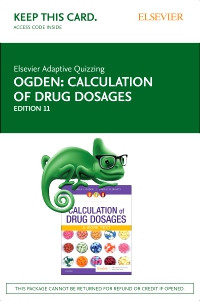 cover image - Elsevier Adaptive Quizzing for Calculation of Drug Dosages Access card,11th Edition