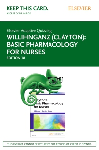cover image - Elsevier Adaptive Quizzing for Basic Pharmacology for Nurses (Access Card),18th Edition