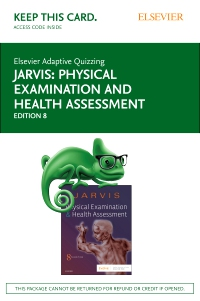 cover image - Elsevier Adaptive Quizzing for Jarvis Physical Examination and Health Assessment (Access Card),8th Edition