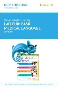 cover image - Elsevier Adaptive Learning for Basic Medical Language (Access Card),6th Edition