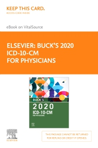 cover image - Buck's 2020 ICD-10-CM Physician Edition Elsevier eBook on VitalSource (Retail Access Card)