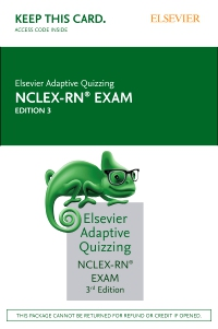 cover image - Elsevier Adaptive Quizzing for the NCLEX-RN Exam (36-Month) (Access Card),3rd Edition